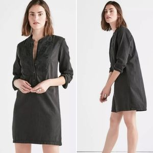 NWT Lucky Brand Dress Black Tunic Embroidered M